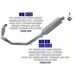 72521P : Arrow approved titanium exhaust system Honda CRF Africa Twin