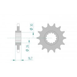 AFAM 15-tooth sprocket