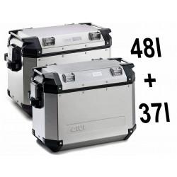 OBKN4837APACK2 : Givi Trekker Outback side cases 48/37l Honda CRF Africa Twin