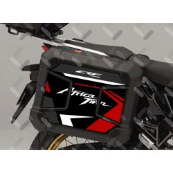 V-AT-CRF-1100 plas : Honda plastic side cases stickers CRF1100 Honda CRF Africa Twin