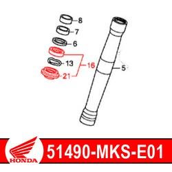 51490-MKS-E01 : Honda genuine fork seals 2020 Honda CRF Africa Twin