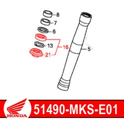 51490-MKS-E01 : Honda genuine fork seals Honda CRF Africa Twin