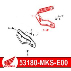 53180-MKS-E00 + 90112-MGS-30 : Protège-main origine Honda 2020 Honda CRF Africa Twin