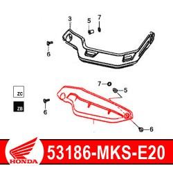53186-MKS-E20 : Honda genuine handguard extension 2020 Honda CRF Africa Twin
