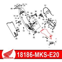 18186-MKS-E20 : Honda genuine exhaust manifold guard 2020 Honda CRF Africa Twin