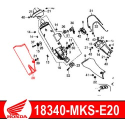 18340-MKS-E20 : Honda genuine exhaust guard 2020 Honda CRF Africa Twin