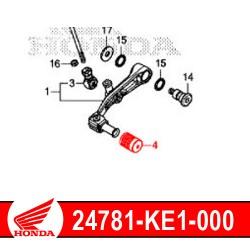 24781-KE1-000 : Honda genuine clutch pedal rubber 2020 Honda CRF Africa Twin