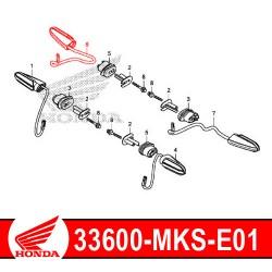 33600-MKS-E01 : Honda genuine turn signal 2020 Honda CRF Africa Twin