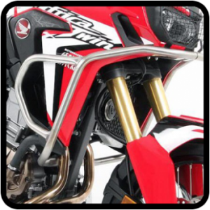 Crashbars and side pipes for Honda Africa Twin Adventure Sports