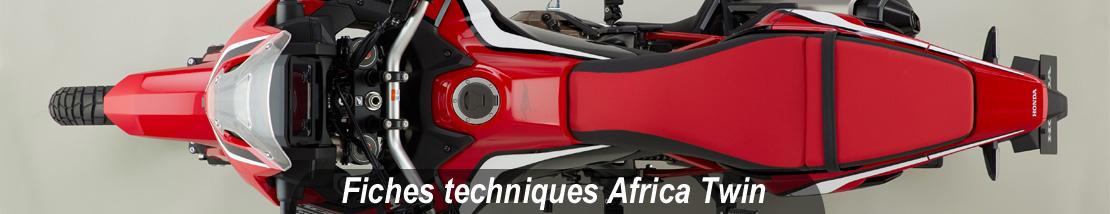 Données techniques des modèles Africa Twin CRF1000 et CRF1100